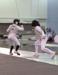 Amanda Lewis fencing