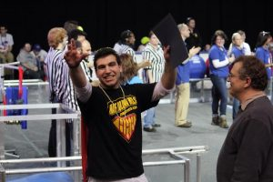 Justin Greene win the FIRST Dean's List nomination for Long Island FIRST FRC.