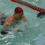 Hills West Junior Kate Chan swims breast stroke in the 200 IM.