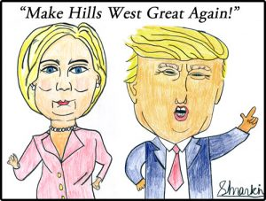 Clinton-Trump Illustration by Samuel Mankin