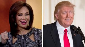 Left: Judge Jeanne Pirro Right: President Trump