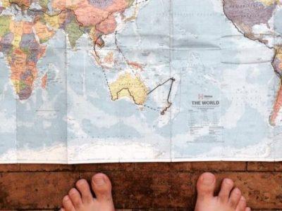Man Travels Around the World on A Bike