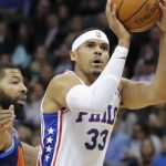 Tobias drops 32 on the Thunder. Image courtesy of CSNPhilly.com